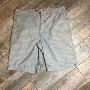 Quiksilver 34 Grey Flatfront Shorts Mens